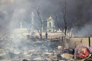 Masjid Meikhtila Miyanmar yang dibakar